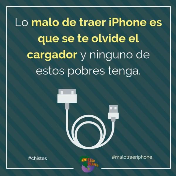 malo traer iphone