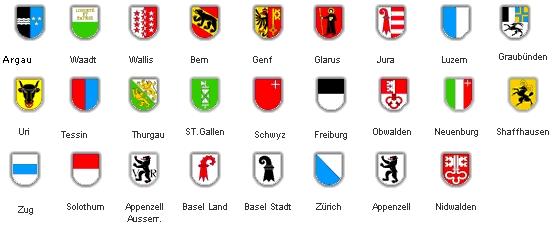 Resultado de imagen de escudos cantones suiza
