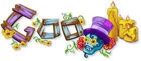 logo de google, dia de muertos