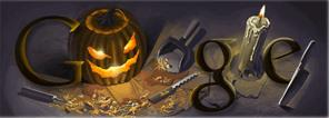 halloween - logo 2008 google