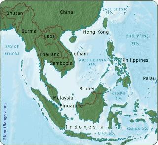 mapa de la indochina