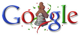 logo google. feliz dia de la independencia del 2008