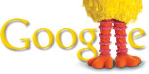 Logotipo de Google por el 40 aniversario de Plaza Sesamo