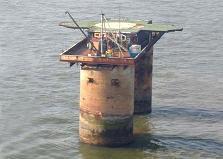 vieja plataforma naval