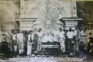 el altar enterrado. tlalpujahua